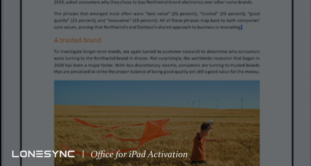 Office for iPad Activation