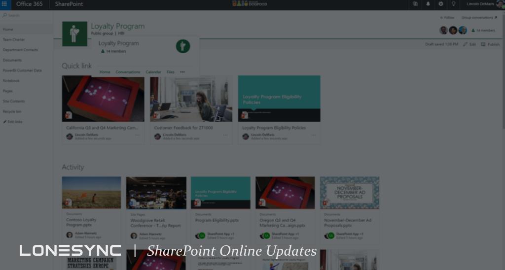 New SharePoint Online Updates
