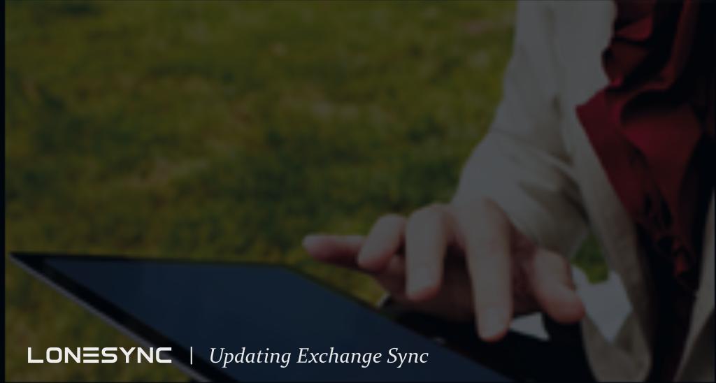 Updating Exchange Sync