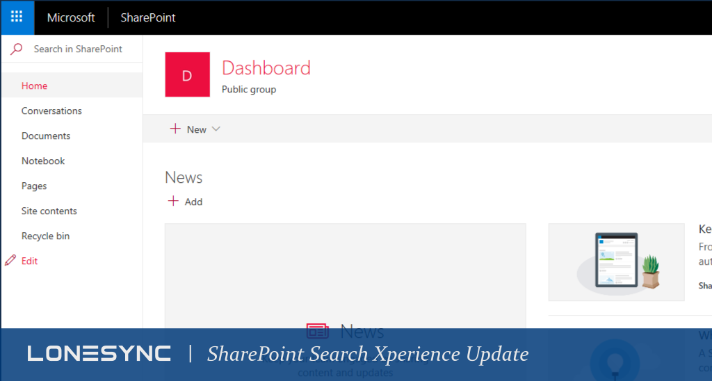 Feature Update: SharePoint Search Xperience