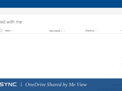 LoneSync OneDrive Shared by Me View
