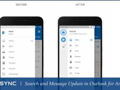 LoneSync Search and Message Xperience Update