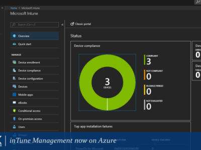 inTune Management now on Azure