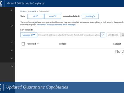 ONUX Suite Microsoft 365 Updated Quarantine Capabilities